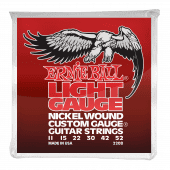 Струны для электрогитары 11-52 Ernie Ball 2208 Nickel Wound Custom Gauge Light