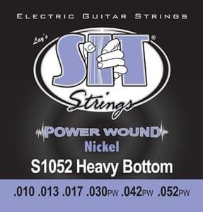 Струны для электрогитары 10-52 S.I.T. S1052 Power Wound Nickel Heavy Bottom