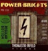 Струны для электрогитары 10-45 Thomastik-Infeld PB110 Power-Brights Round Wound Regular Bottom