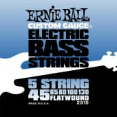 Струны для бас-гитары 45-130 Ernie Ball 2810 Flatwound 5 String