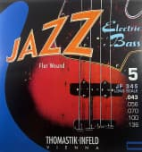 Струны для бас-гитары 43-136 Thomastik-Infeld JF345 Jazz Flat Wound 5-String