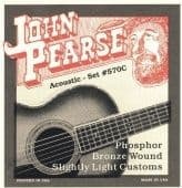 Струны для акустической гитары 11-52 John Pearse 570C Phosphor Bronze Wound Slightly Light Customs