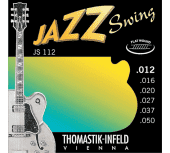 Струны для электрогитары 12-50 Thomastik-Infeld JS112 Jazz Swing Flat Wound