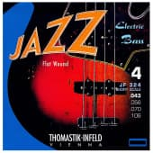 Струны для бас-гитары 43-106 Thomastik-Infeld JF324 Jazz Flat Wound Short Scale
