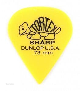 Медиаторы поштучно 0.73 mm Dunlop Tortex Sharp Yellow
