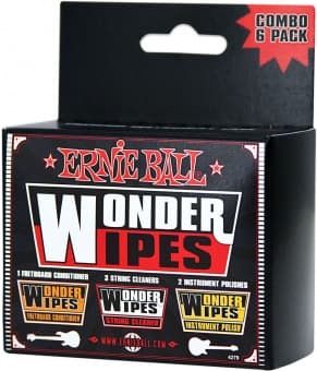 Наборы Ernie Ball P04279 Wonder Wipes Instrument Care Kit Combo 6 pack