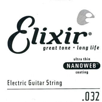 Струны поштучно 32 Elixir 15232 Nanoweb Electric Nickel Plated Steel String