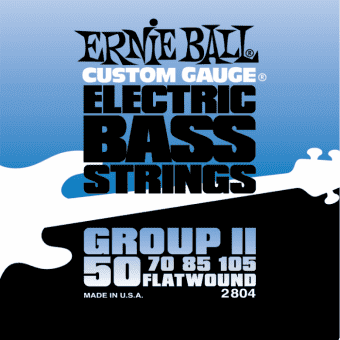 Струны для бас-гитары 50-105 Ernie Ball 2804 Flatwound Group II
