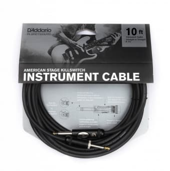 Кабели 3.05m D'Addario Planet Waves PW-AMSK-10 American Stage Killswitch Instrument Cable