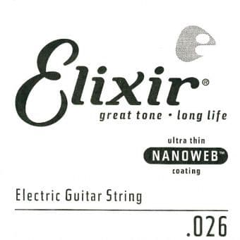 Струны поштучно 26 Elixir 15226 Nanoweb Electric Nickel Plated Steel String