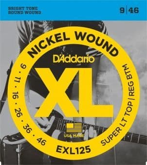 Струны для электрогитары 09-46 D'Addario EXL125 Nickel Wound Super LT TOP/ REG BTM