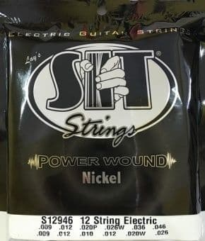 Струны для электрогитары 09-46 S.I.T. S12946 Power Wound Nickel 12 String
