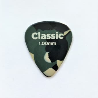 Медиаторы поштучно 1.0 mm D'Addario Planet Waves Classic Celluloid Camoflauge