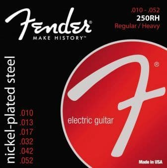 Струны для электрогитары 10-52 Fender 250RH Nickel-Plated Steel Regular/Heavy