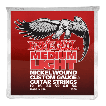 Струны для электрогитары 12-54 Ernie Ball 2206 Nickel Wound Custom Gauge Medium Light