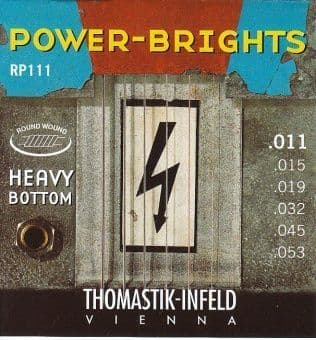 Струны для электрогитары 11-53 Thomastik-Infeld RP111 Power-Brights Round Wound Heavy Bottom