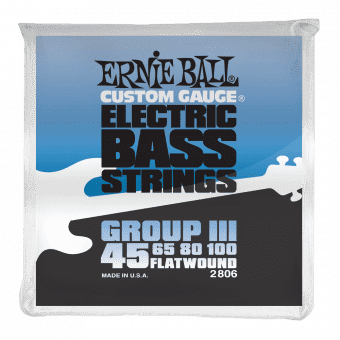 Струны для бас-гитары 45-100 Ernie Ball 2806 Flatwound Group III