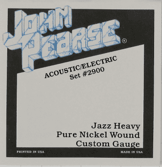 Струны для электрогитары 13-56 John Pearse 2900 Nickel Wound Jazz Heavy Custom