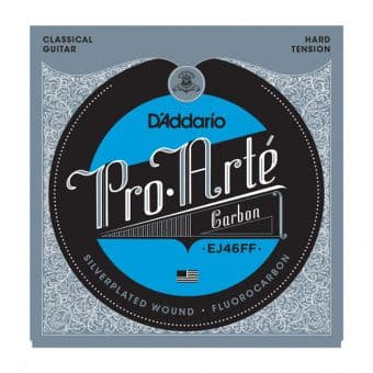 Струны для классической гитары (нейлон) 24.8-46 D'Addario EJ46FF Pro Arte Carbon Silverplated Fluorocarbon Hard Tension