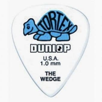 Медиаторы поштучно 1.0 mm Dunlop Tortex Wedge Blue