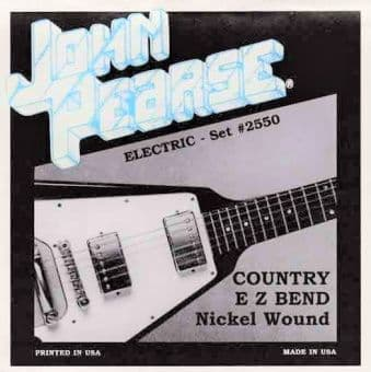 Струны для электрогитары 10-52 John Pearse 2550 Nickel Wound Country EZ Bend