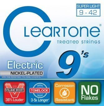 Струны для электрогитары 09-42 Cleartone 9409 Nickel Plated Super Light