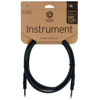 Кабели 4.57m D'Addario Planet Waves PW-CGT-15 Classic Series Instrument Cable