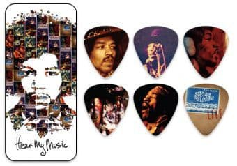 Наборы медиаторов 0.73 mm Dunlop JHPT07M Jimi Hendrix Hear My Music 12 pcs