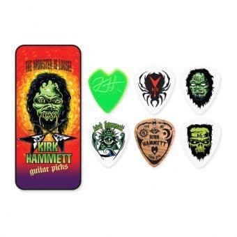 Наборы медиаторов 0.88 mm Dunlop KH01T088 Kirk Hammett Signature Monster 6 pcs