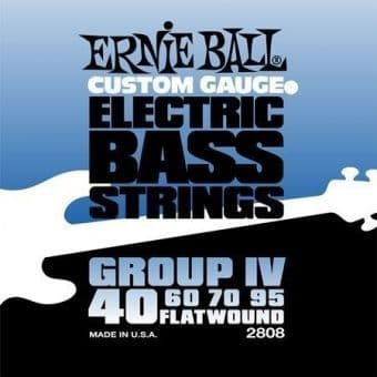 Струны для бас-гитары 40-95 Ernie Ball 2808 Flatwound Group IV