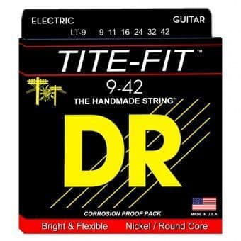 Струны для электрогитары 09-42 DR LT-9 TITE-FIT Nickel/Round Core