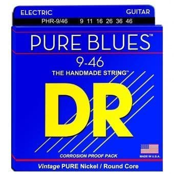 Струны для электрогитары 09-46 DR PHR-9/46 Pure Blues Vintage Pure Nickel/Round Core