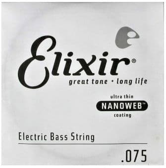 Струны для бас-гитары 75 Elixir 15375 Nanoweb Coated
