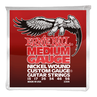Струны для электрогитары 13-56 Ernie Ball 2204 Nickel Wound Custom Gauge Medium