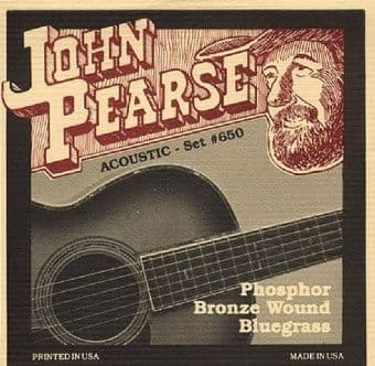 12-56 John Pearse 650 Phosphor Bronze Wound Bluegrass
