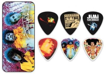 Наборы медиаторов 0.73 mm Dunlop JHPT01M Jimi Hendrix Are You Experienced Celluloid 12 pcs